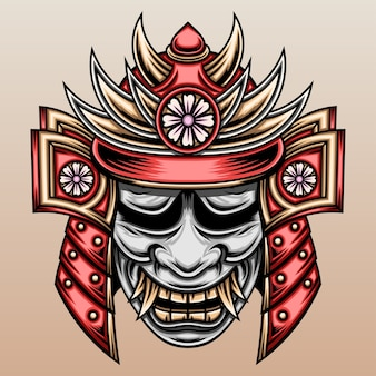 Samuraj z maską hannya.