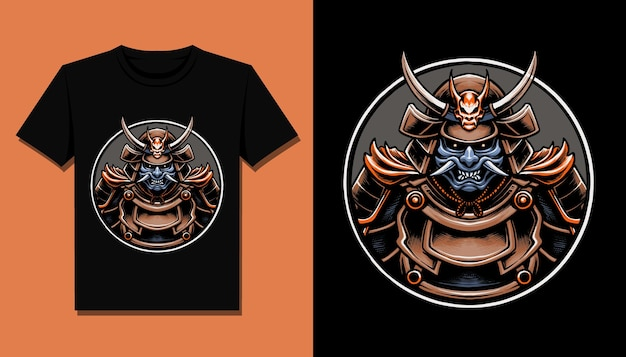 Samuraj za projekt koszulki