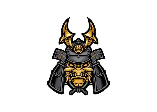 Samurajska maska wojownika
