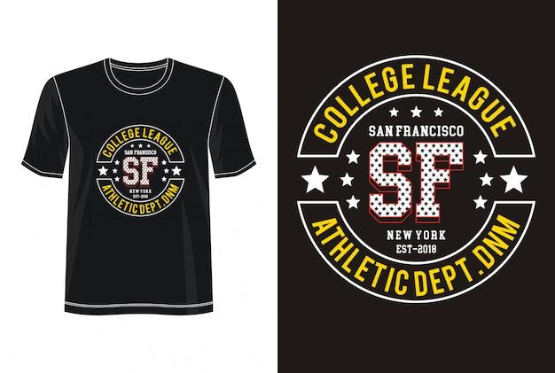 San francisco typografia do koszulki z nadrukiem