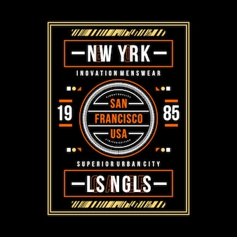 San francisco typografia graficzna odzież miejska