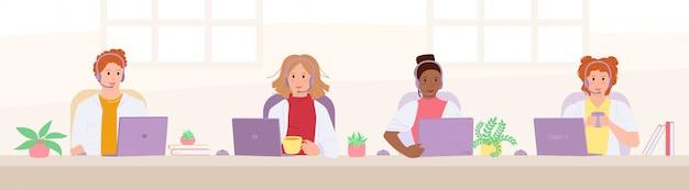 Sanitariusze odbierają połączenia doradzają. infolinia centrum obsługi klienta. wieloetniczni lekarze ze słuchawkami, opieka zdrowotna