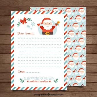 Santa claus szablon listu