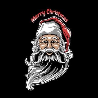 Santa claus wesołych świąt bożego narodzenia ilustracja