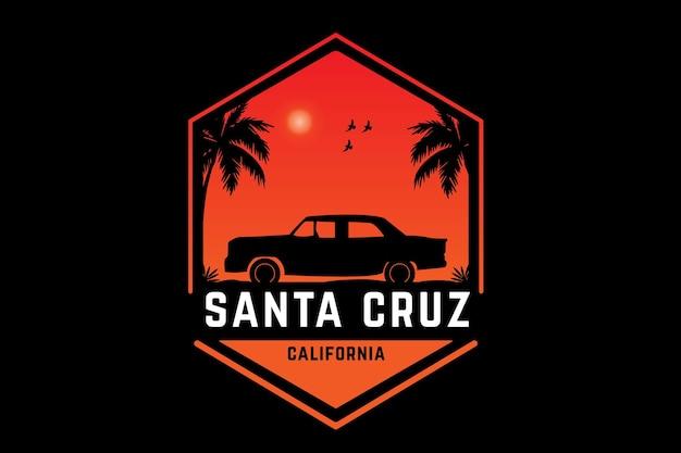 Santa cruz w kalifornii kolor pomarańczowy