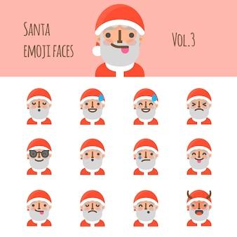 Santa emoji twarze