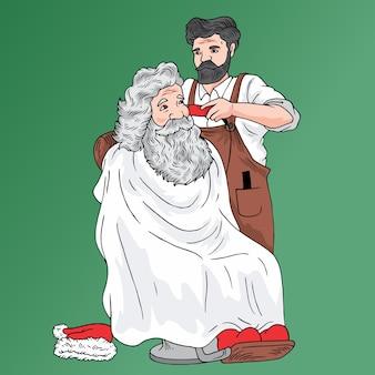 Santa fryzjer