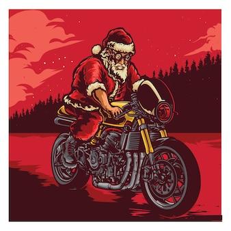 Santa jazda na rowerze