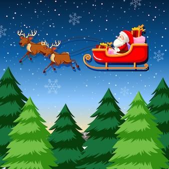 Santa jazdy saniami