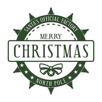 Santas oficjalna fabryka biegun północny szablon świątecznych znaczków na prezenty i listy