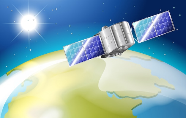 Satelita w przestrzeni