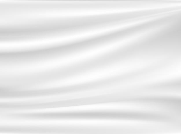 Satynowa biała i szara tkanina na białym tle na tle koncepcji projektu
