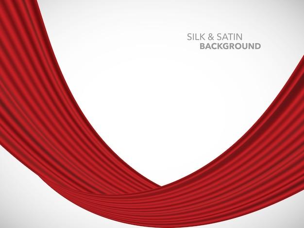 Satynowa tkanina jedwabna o abstrakcyjnej fali na uroczyste otwarcie