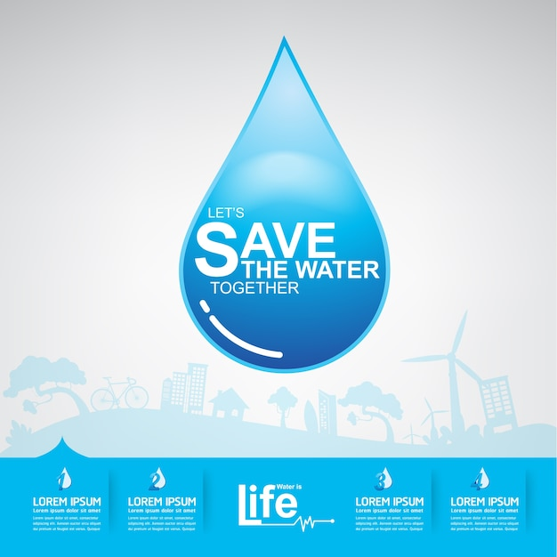 Save the water concept woda to życie