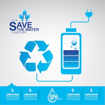 Save the water vector water to life