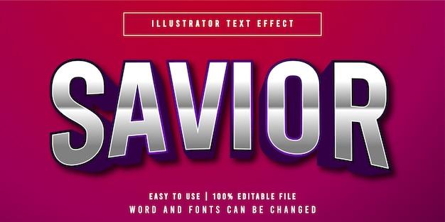Savior edytowalny tytuł gry styl efekt tekstowy