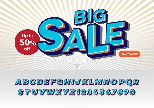"""""""sbig ale"""" nowoczesna i modna czcionka z efektem kreskówkowym. broszura, prezentacja, baner, promocja plakatu i szablon sprzedaży"""