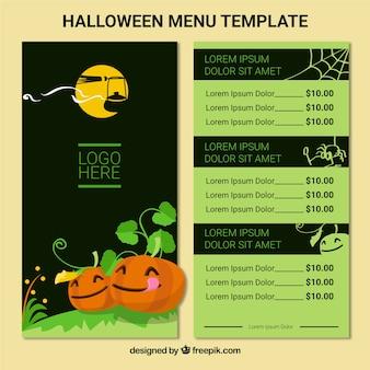Scary halloween menu z nicei smashing pumpkins