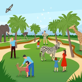 Scena cartoon zoo