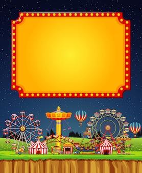 Scena cyrkowa z szablonu znak na niebie