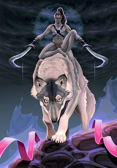Scena fantasy przedstawiająca wybór między dwiema ścieżkami