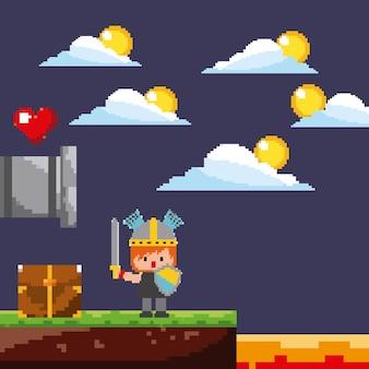 Scena gry pixel