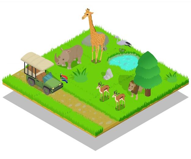 Scena koncepcyjna safari