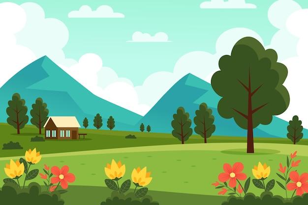 Scena krajobraz wiosna