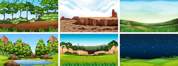 Scena krajobrazowa środowiska naturalnego