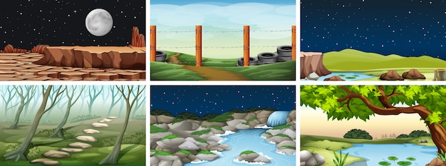 Scena krajobrazu naturalnego środowiska
