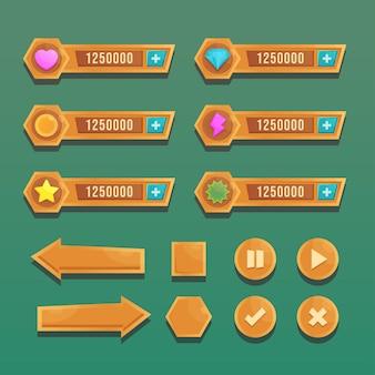 Scena menu gry dla statusu mocy pieniędzy
