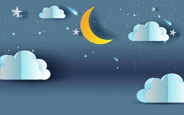 Scena niebo słodki sen nocy