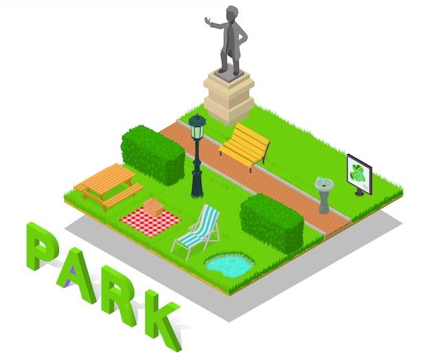 Scena parkowa