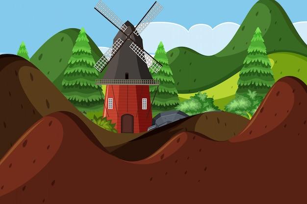 Scena plenerowa z wildmill