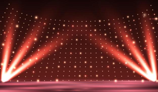 Scena podium z oświetleniem tła ilustracji