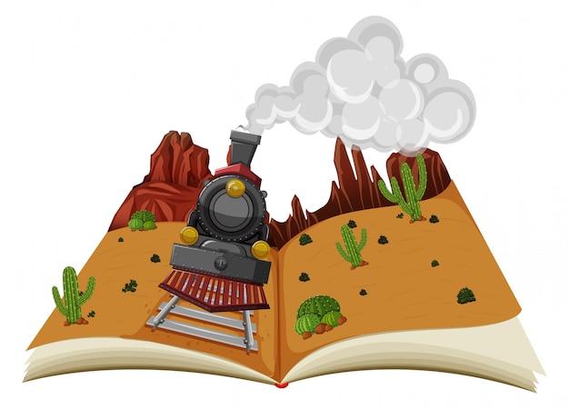 Scena pop-up książki pustyni