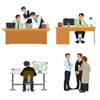 Scena postaci biznesowych.
