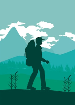 Scena postaci poszukiwacza przygód