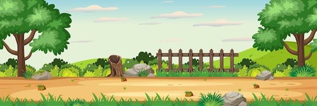 Scena pozioma pusty ogród natura