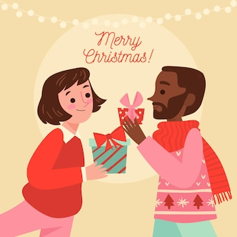 Scena prezenty świąteczne