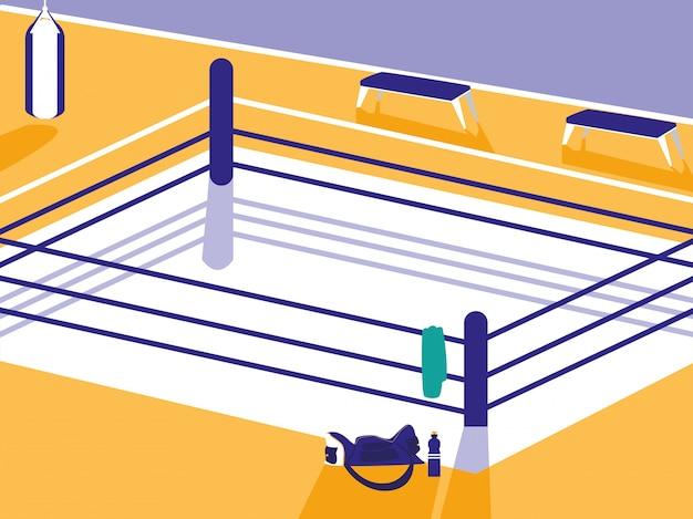Scena ringu bokserskiego