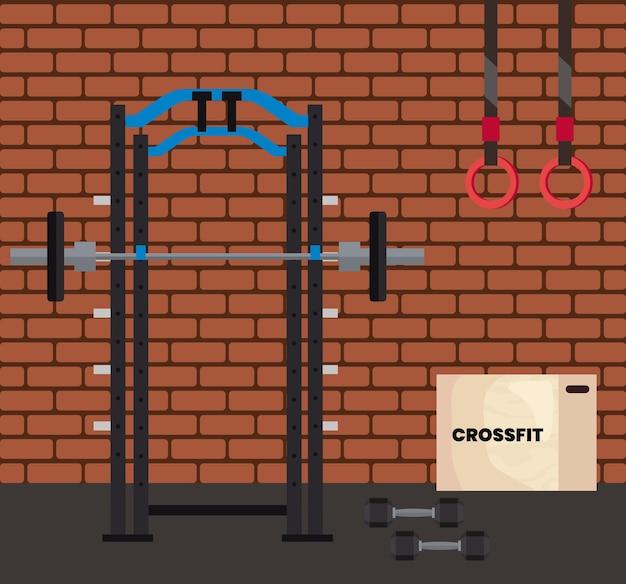 Scena siłowni crossfit