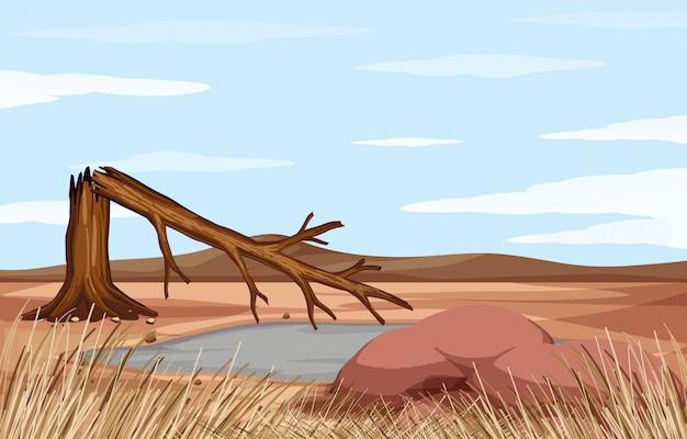 Scena z problemem wylesiania