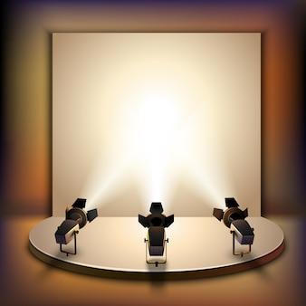 Scena z reflektorami