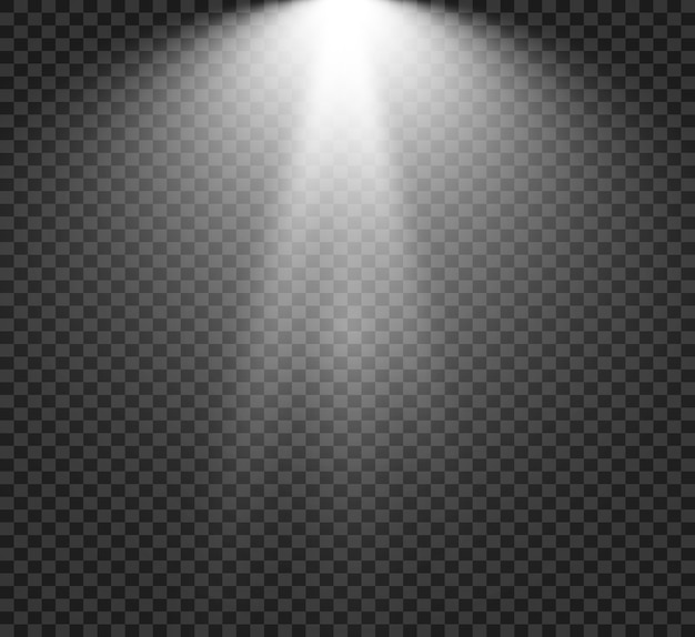 Scena z reflektorami.