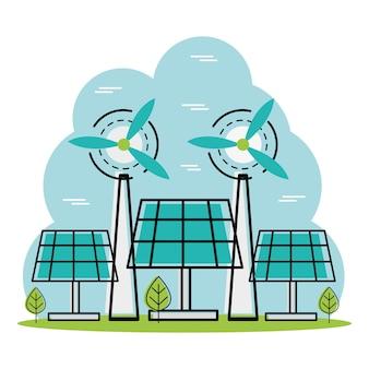Scena zielonej energii