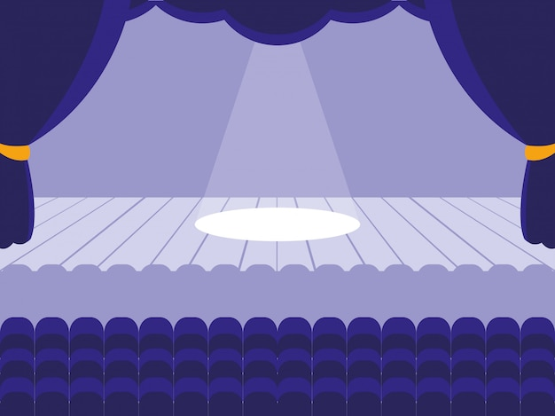 Sceneria sceny teatralnej