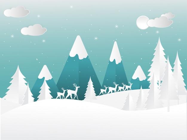Sceneria w zimie