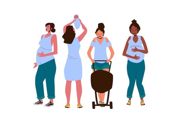 Sceny ciąży i macierzyństwa