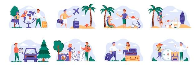 Sceny wakacyjne łączą się z postaciami ludzi